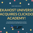 SeekaHost University acquires ClickDo Academy – e-learning merges with web hosting