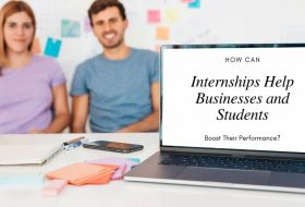 How can internships help businesses and students boost their performance?