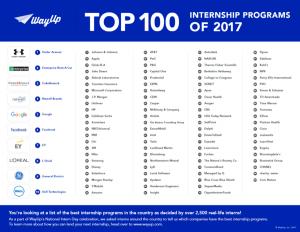 Top 100 Internship Programs US